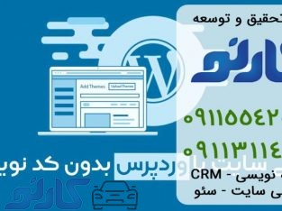 طراحی سایت بدون کد نویسی در قائمشهر و ساری ، مازندران | گروه تحقیق و توسعه کارنو
