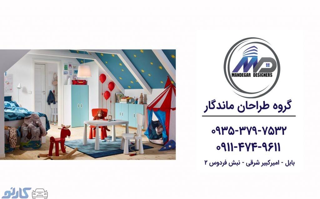 هزینه و قیمت اجرای و طراحی اتاق خواب کودک در کیاکلا و جویبار |گروه طراحان ماندگار