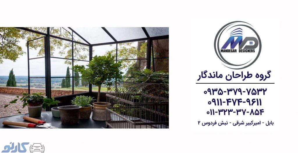 هزینه و قیمت طراحی و اجرای سقف روف گاردن در آمل و محمودآباد | گروه طراحان ماندگار